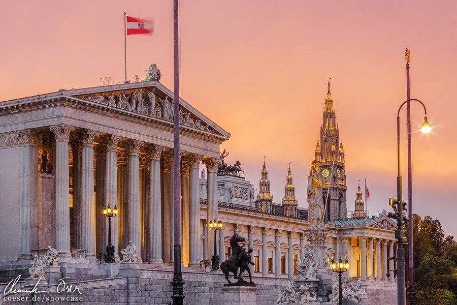 Photograph Vienna Parliament and City Hall by Christian Öser on 500px