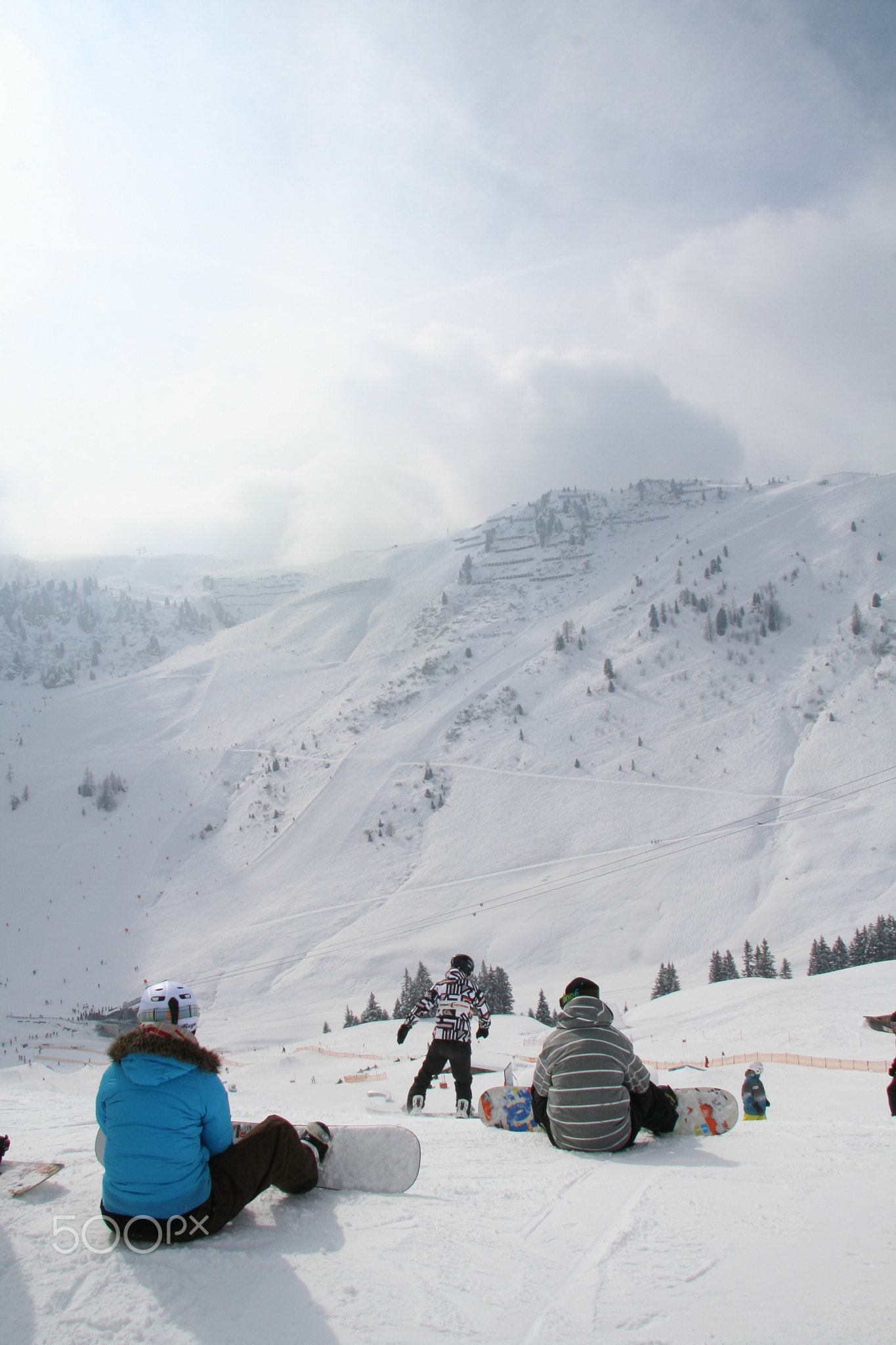Skiing and snowboarding in Zillertal, Austria
