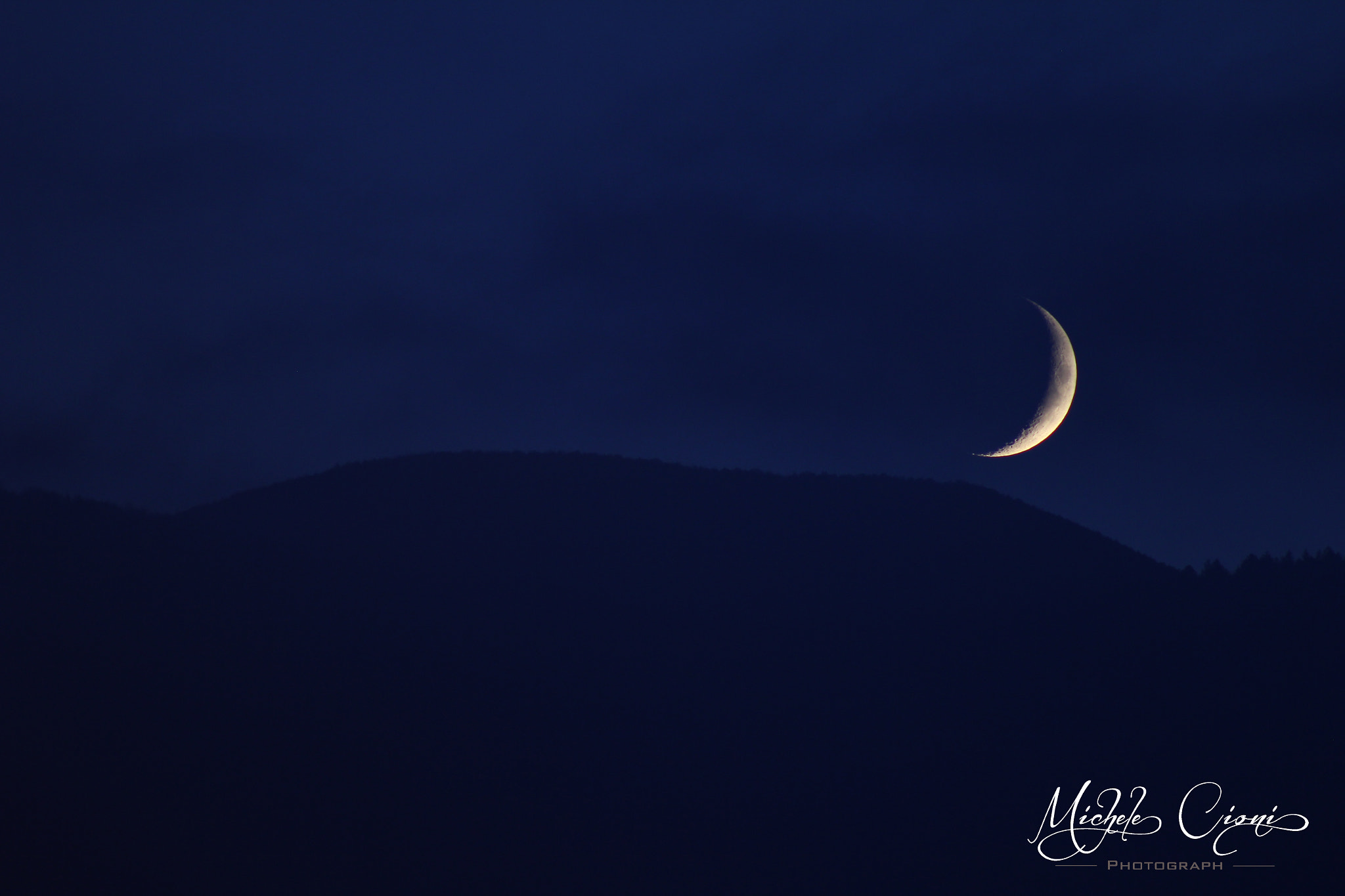 Photograph Crescent Moon by Michele Cioni on 500px
