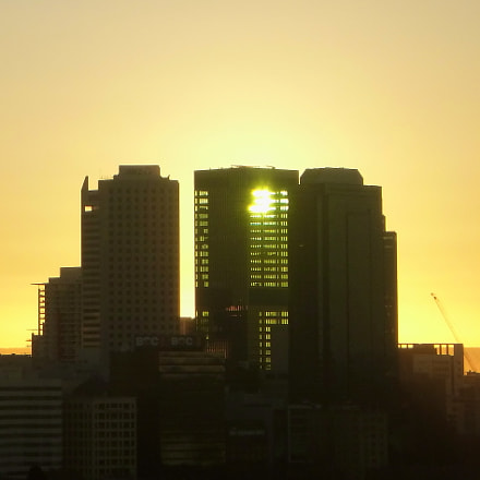 Sunrise over Perth CBD, Panasonic DMC-FT20