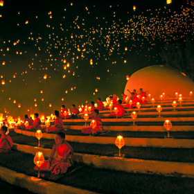 YeePeng Festival  ChiangMai Thailand by chattakan kosol (yodapix)) on 500px.com