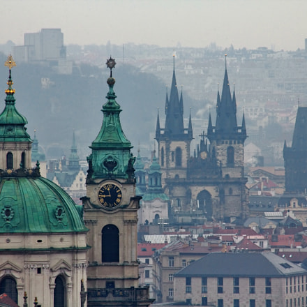 Prague Bell Towers, winter, Canon EOS 60D, Canon EF 100-300mm f/4.5-5.6 USM