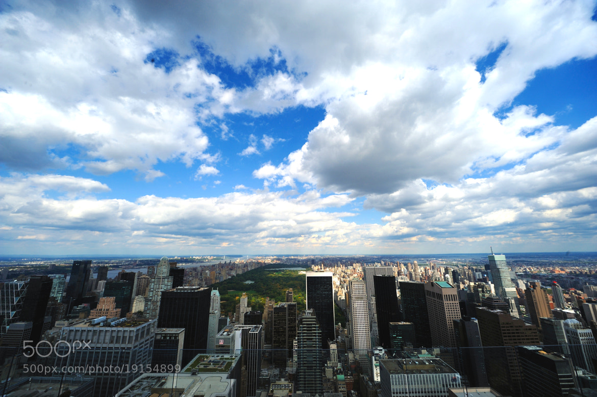 Photograph Central Park & skycrapers from The Rockefeller Center by Michael FRANCHITTI on 500px