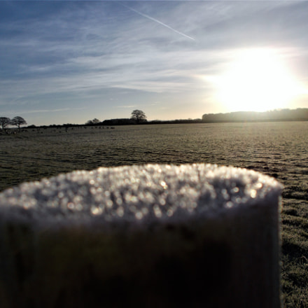 Frost on a post, Nikon COOLPIX A10