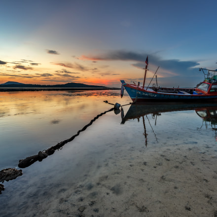 low tide in Rawai