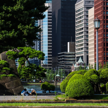 View from Tokyo Castle, Canon EOS 8000D, Canon EF-S 18-135mm f/3.5-5.6 IS STM