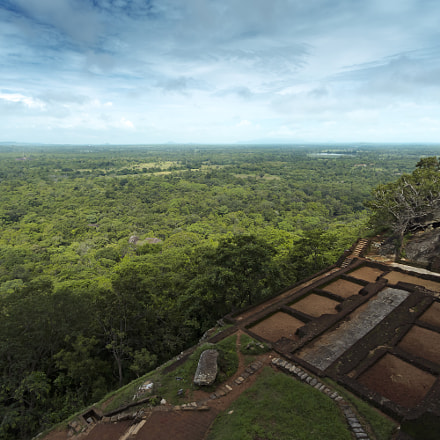 View From Sigiriya in Sri Lanka