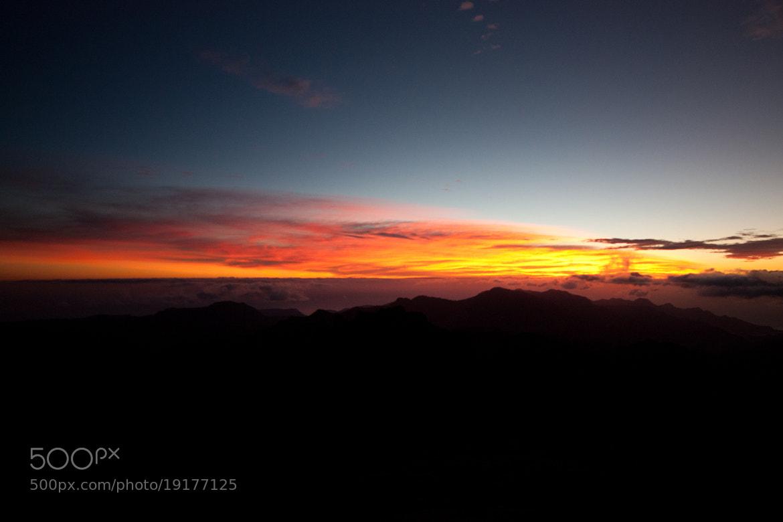 Photograph Sunset desde la cumbre by David Brito on 500px