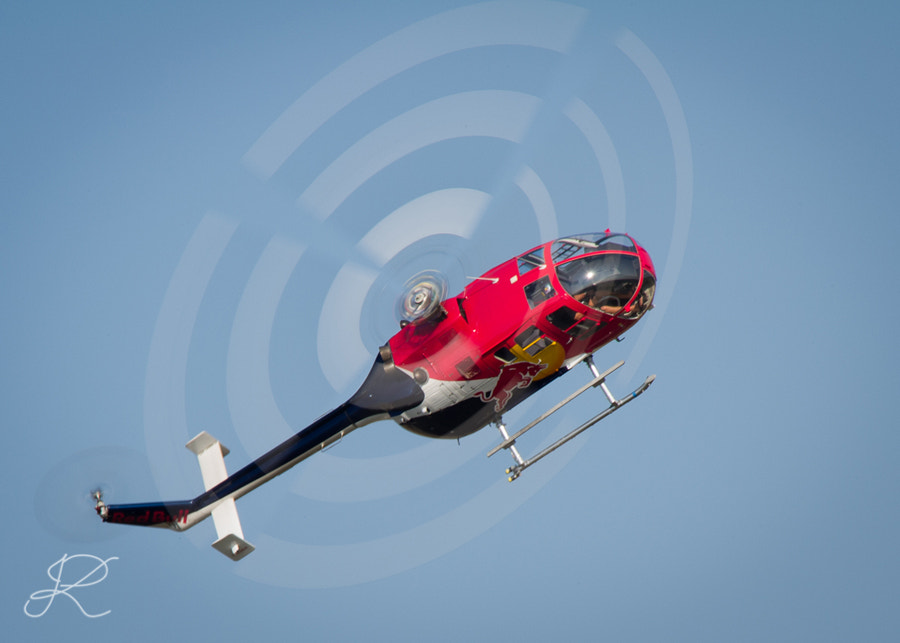 Photograph Red Bull Team helicopter piloted by Chuck Aaron by Izabela Korwel Korwel Photography on 500px