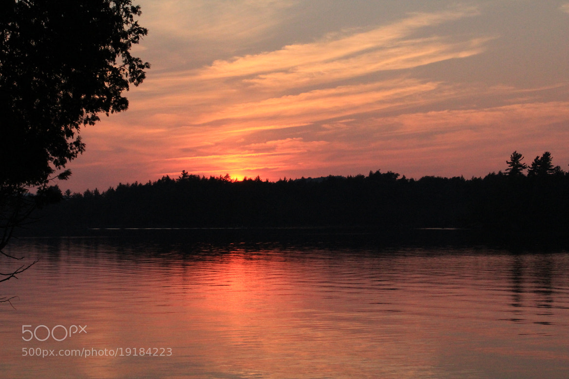 Photograph Forked Lake Sunset by Evan Williams on 500px