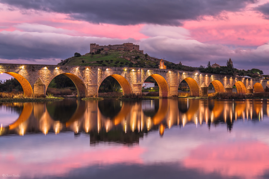 Lights of Conquest || Medellín (Extremadura) by Chano Sanchez on 500px.com