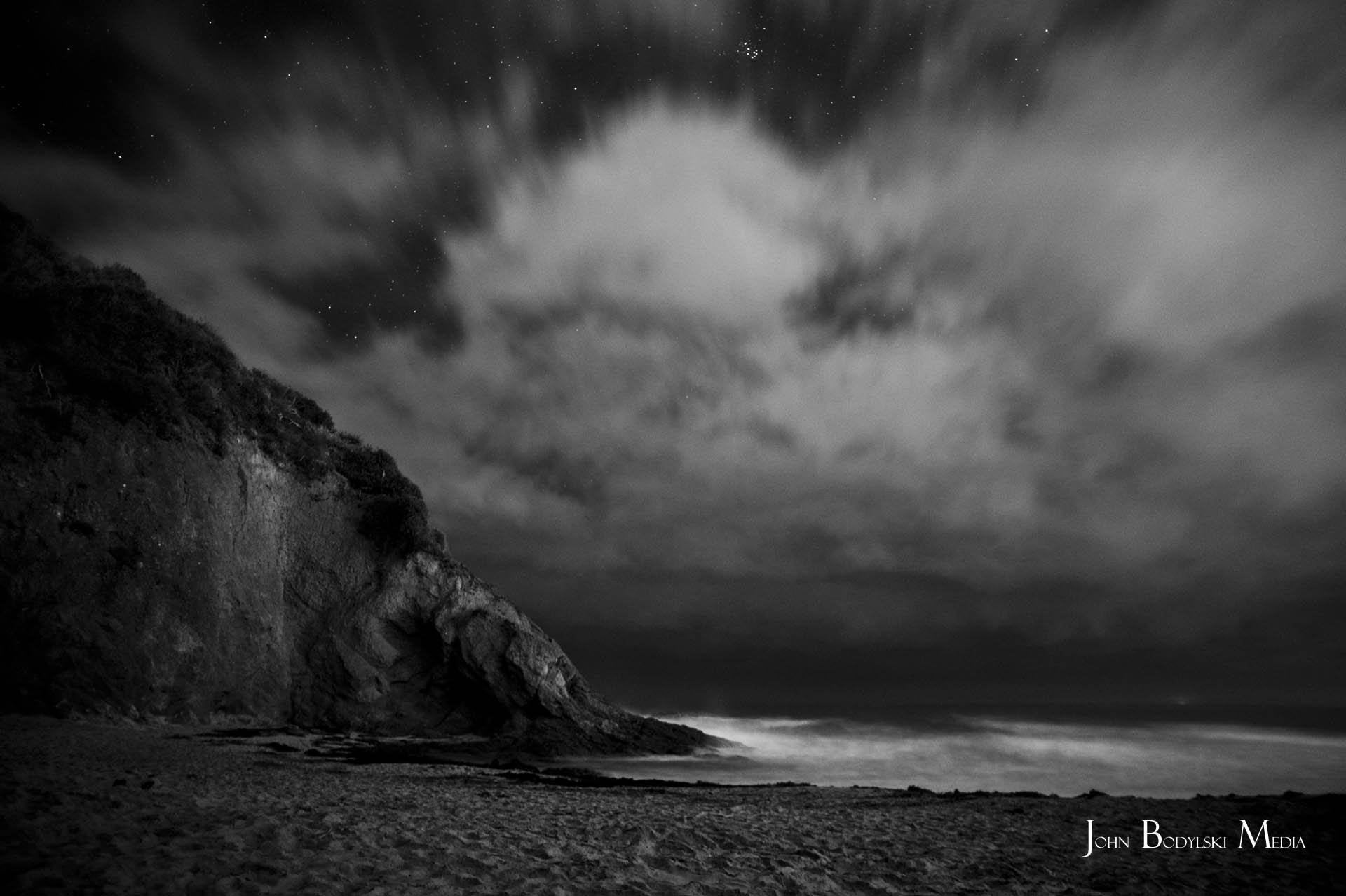 Photograph Cliffs in the Night by Johnny Bodylski on 500px