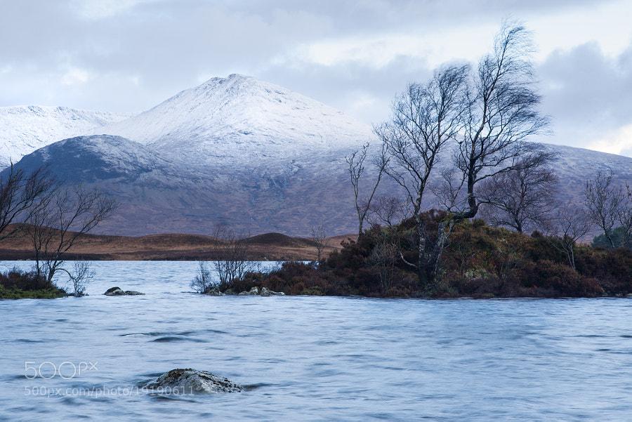 Lochan na Strainge in Rannoch Moor, Scotland