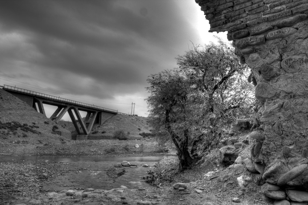 Photograph Old Bridge looking the new one, Banoo-Sahra, Iran  by Shahram  Mirkhani on 500px