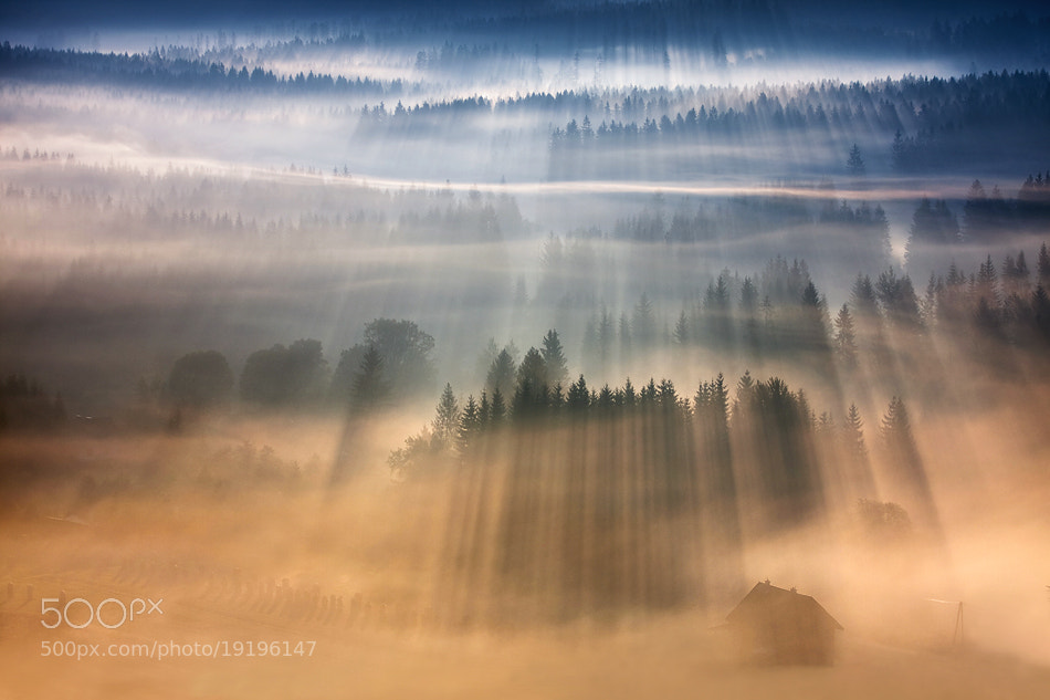 Photograph Hut in the valley ... by Marcin Sobas on 500px