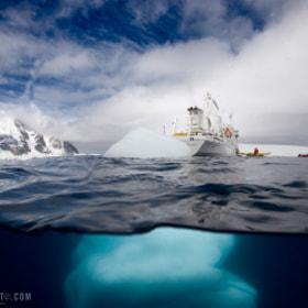 Antarctic Underwater Iceberg by Kyle Marquardt on 500px.com