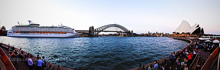 A Panoramic view of the Circular Quay Area...