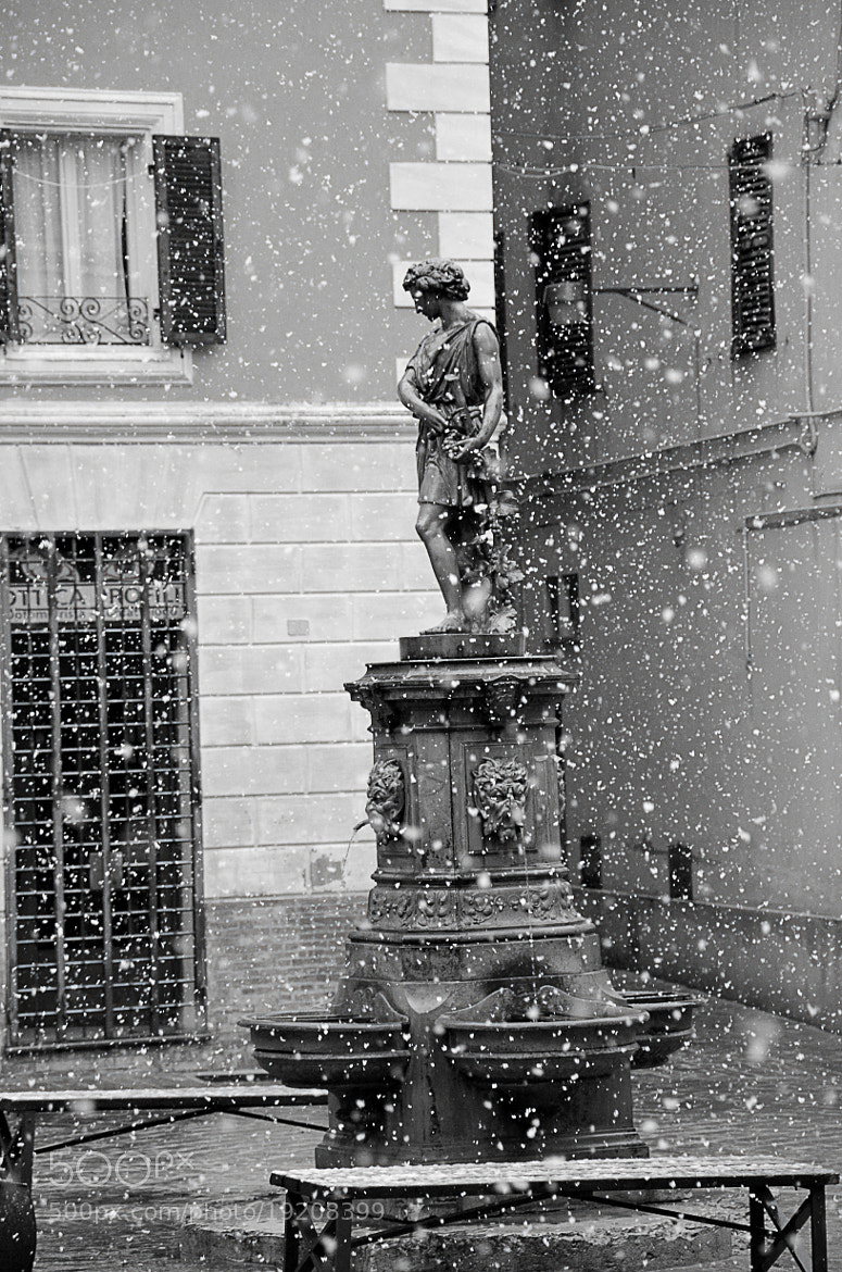Photograph Snowing in statue by Vanderlei Bailo on 500px