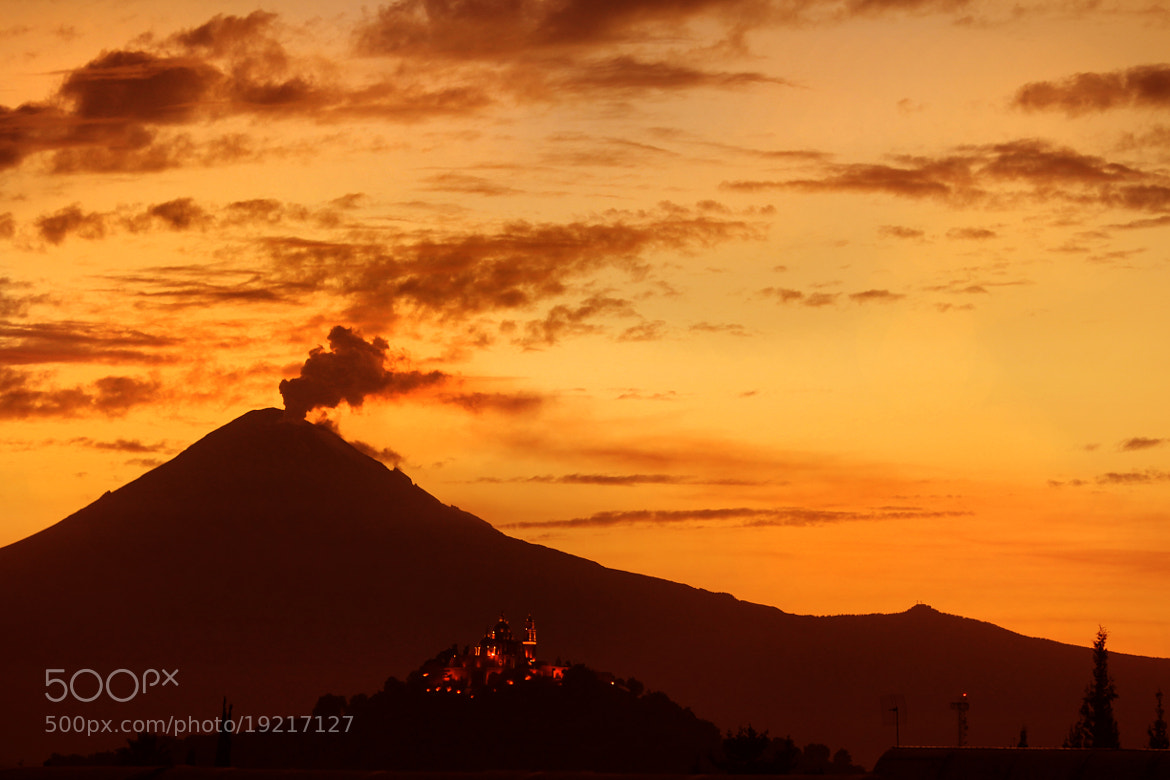 Photograph volcano and Church at sunset by Cristobal Garciaferro Rubio on 500px
