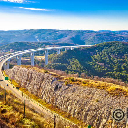 Crni Kal viaduct in Slovenia