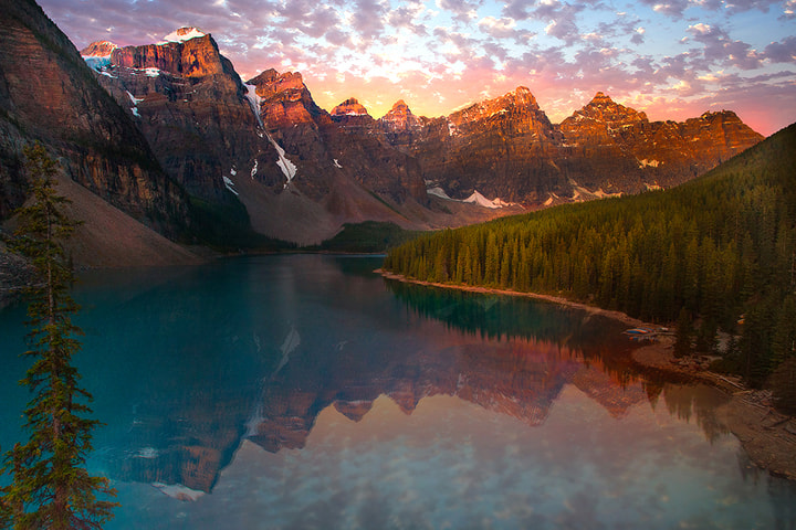 Photograph Moraine Lake Sunrise by Kevin McNeal on 500px