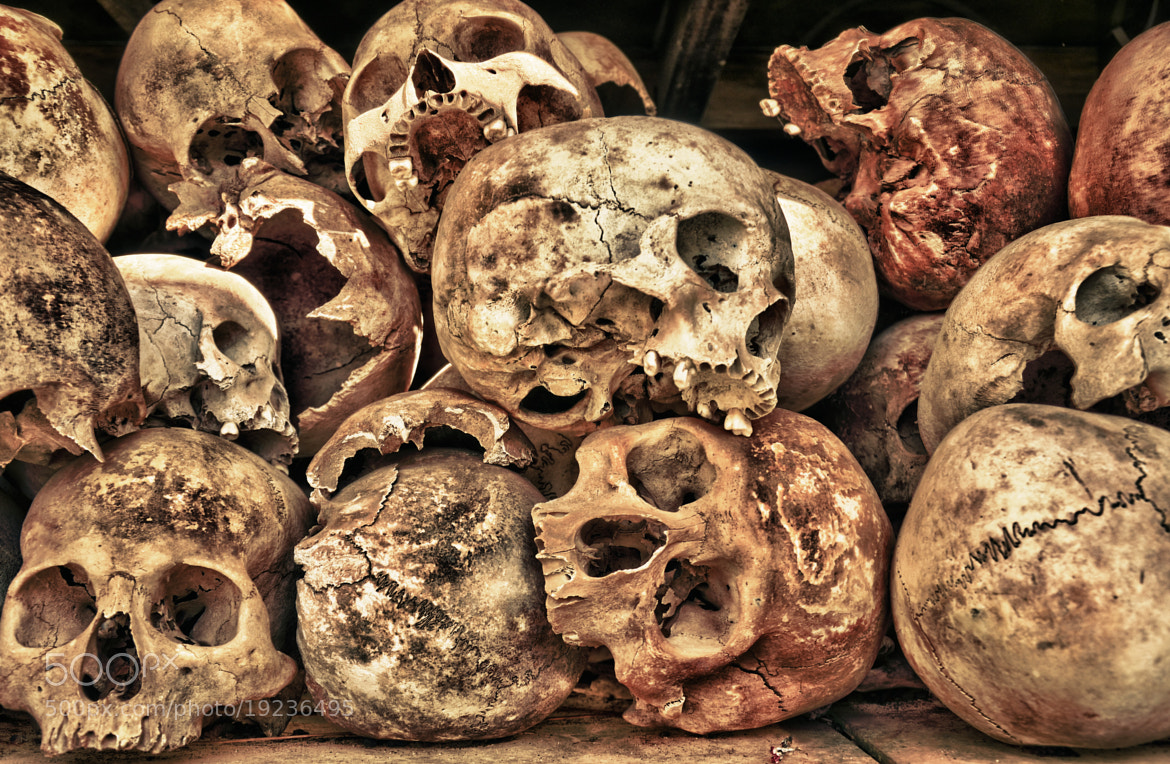 Photograph Tower of Skulls at The Killing Fields in HDR by Gabe Taviano on 500px