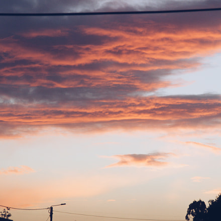 Sunset from home, Canon EOS 600D, Canon EF 135mm f/2.8 Soft