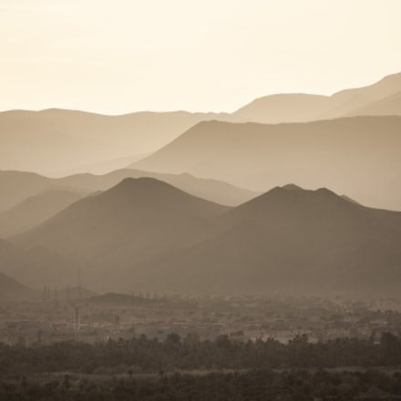 Sunset, Atlas mountains, Morocco, Canon EOS 5D, Canon EF 100-300mm f/5.6L