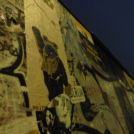 east side gallery graffiti, Panasonic DMC-TZ56