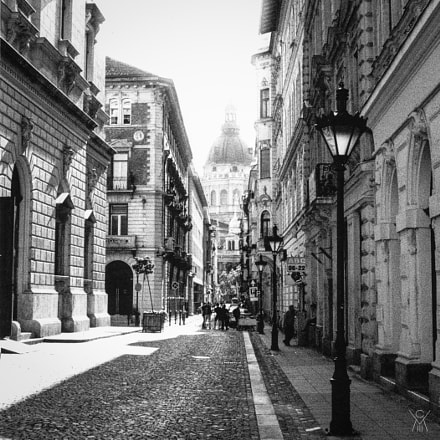 Street in Budapest, Hungary, Canon AE-1