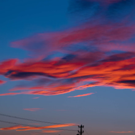 Blue and red sky, Canon EOS-1D MARK IV, Canon EF 70-200mm f/4L IS