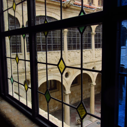 Window to the cloisters, Canon IXUS 265 HS
