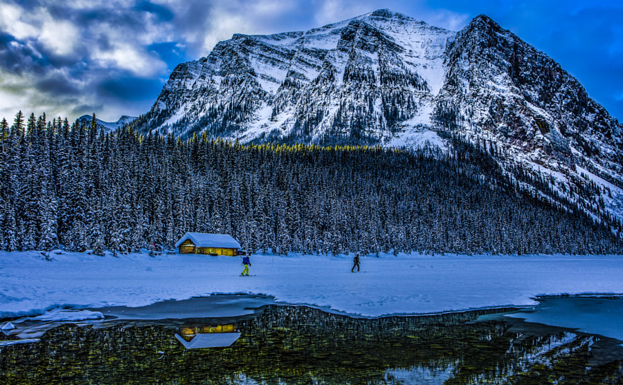 lake louise winter reflection by Mark Bowen on 500px.com