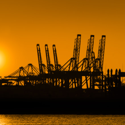Sunset at Port of, Sony DSLR-A850, Sigma 150-500mm F5-6.3 APO DG OS HSM