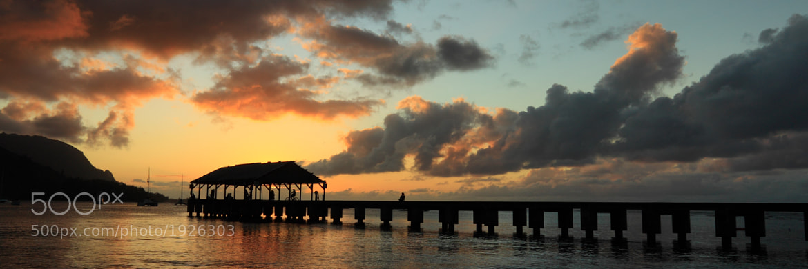 Photograph Hanalei Pier Sunset Panorama by James Q. Eddy Jr. on 500px