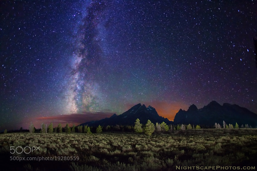 Photograph Stars over Teton Range by Royce's NightScapes on 500px