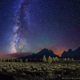 Stars over Teton Range by Royce's NightScapes (nightscape)) on 500px.com