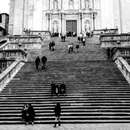 Escalinata de la catedral Girona.