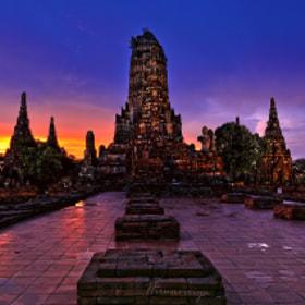Chaiwatthanaram temple,Ayuthaya,Thailand by Jakkaphan Hirunviriya (JakkaphanHirunviriya)) on 500px.com