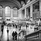 Bustling Crowds and Classic Architecture of a Moment in Time at Grand Central Station in Midtown Manhattan New York City