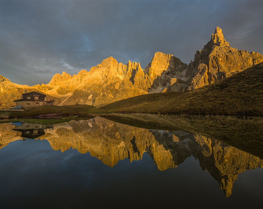 Photograph Baita Segantini in late sunlight by Hans Kruse on 500px