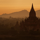bagan temple sunrise, burma
