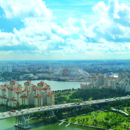 Captured from Singpore flyer, Canon POWERSHOT A3100 IS