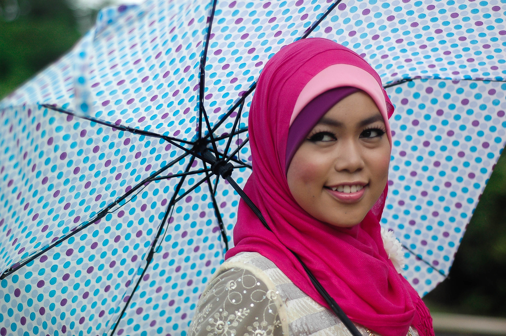 Photograph Woman and The Polka Dot Umbrella by syafiq zainal on 500px