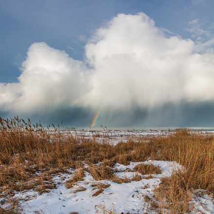 Winter Rainbow, Canon EOS 50D, Tamron AF 18-270mm f/3.5-6.3 Di II VC LD Aspherical [IF] Macro
