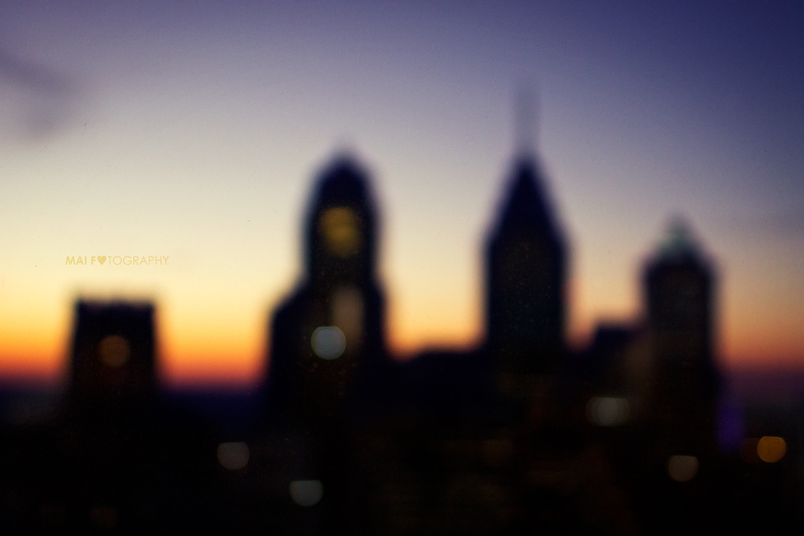 Photograph Philadelphia sunset bokeh 2 by Mai Fotography on 500px