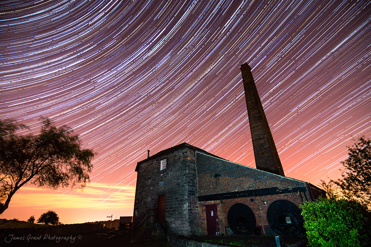 Photograph Middleton Top Star Trails by James Grant on 500px