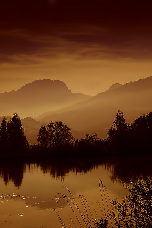 Photograph Swiss Lake by Richard Tierney on 500px