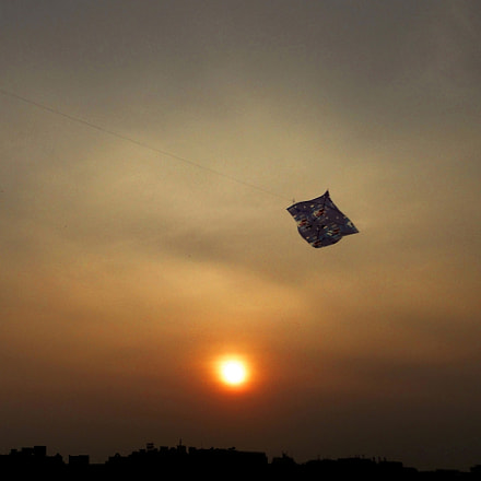 Sunset And Kite, Sony DSC-W350