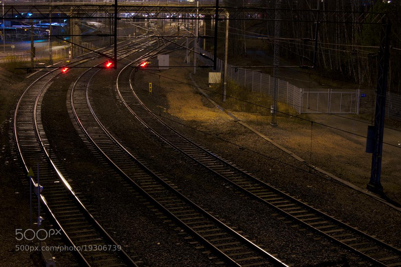 Photograph empty rails by J K on 500px